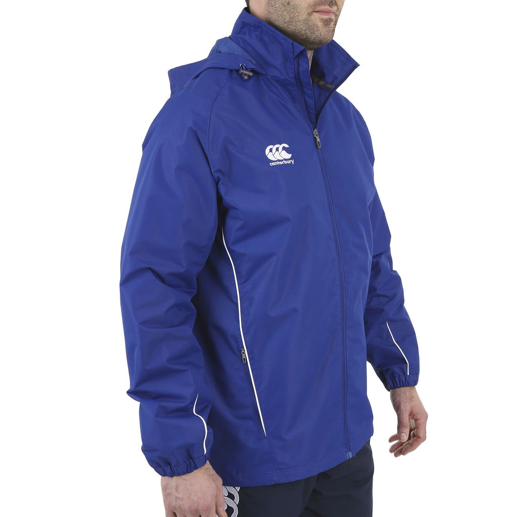 Team Full Zip Rain Jacket - Royal/White