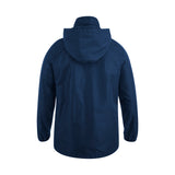 Team Full Zip Rain Jacket - Navy/White
