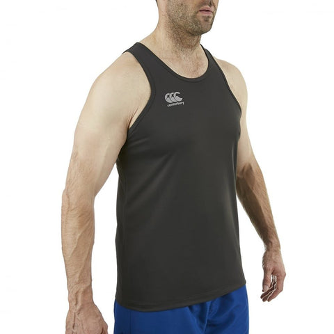 Core Vapodri Poly Small Logo Singlet - Phantom