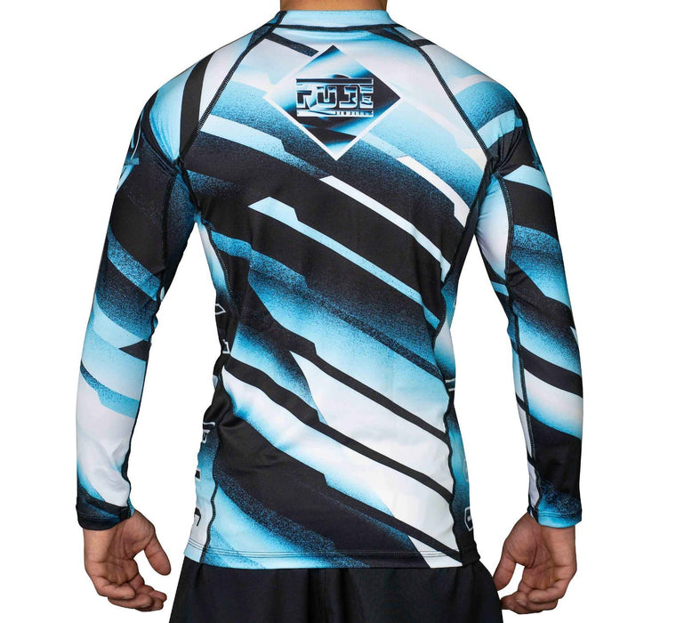 Fuji Ice Rashguard Long Sleeve blue back