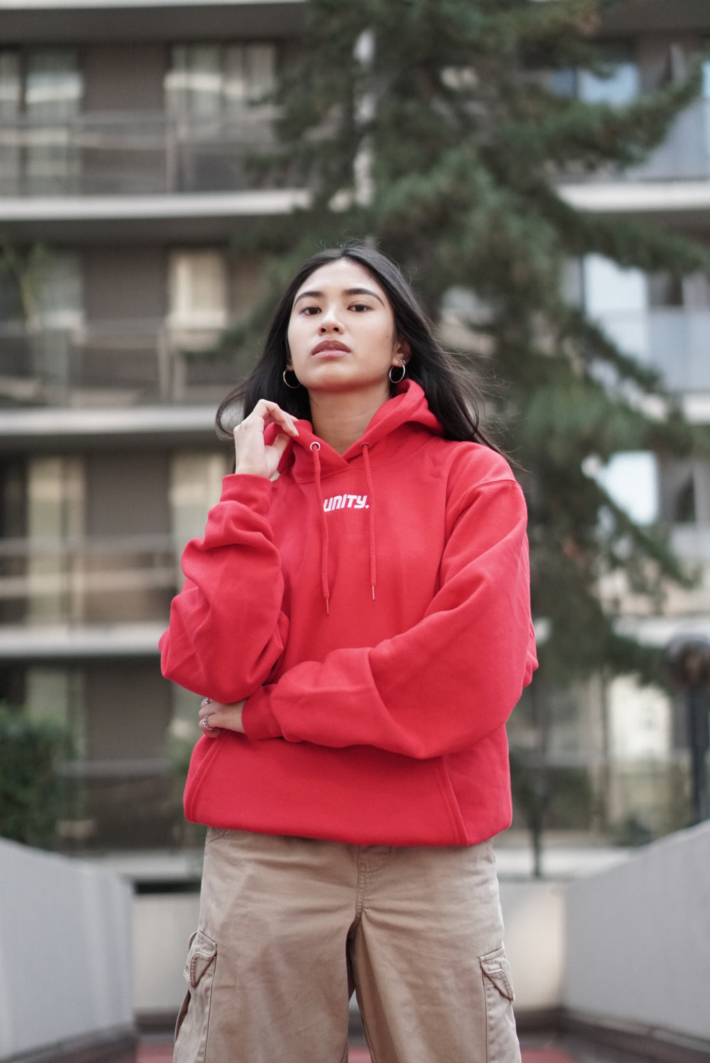 Unity Hoodie - Red w/ White