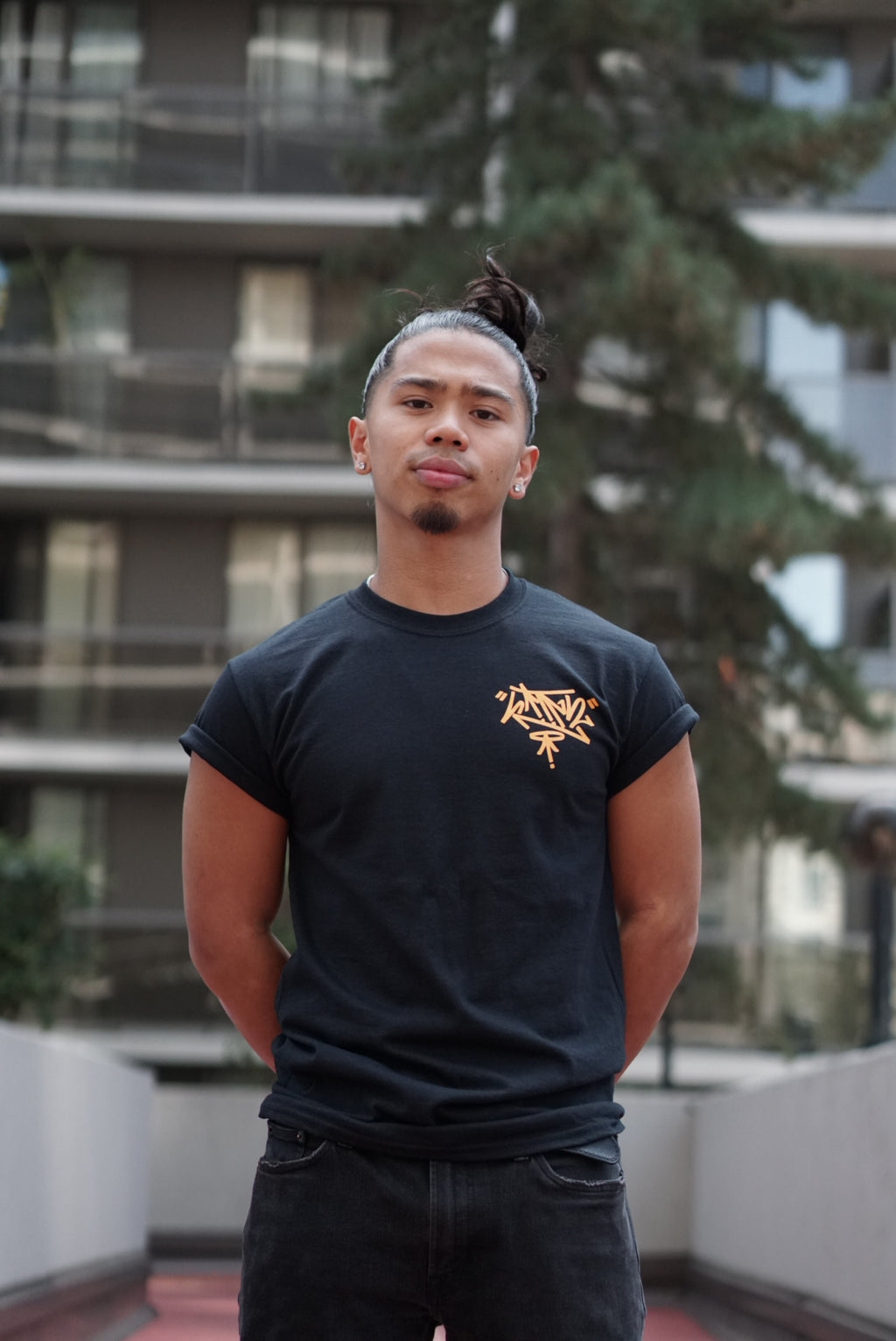 Unity T-Shirt - Black w/ Orange