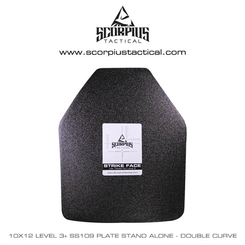 10x12 Level 3+ SS109 Stand Alone Body Armor Plate - Double Curve  sc 1 st  Scorpius Tactical LLC & 10x12 Level 3+ SS109 Stand Alone Body Armor Plate - Double Curve ...