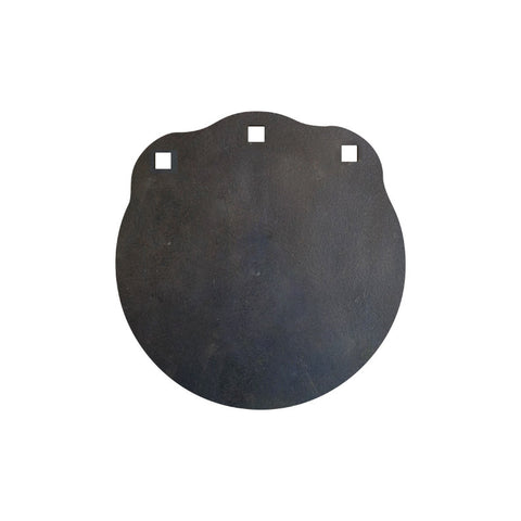 "12"" Round 3/8"" Thick, Laser Cut - Certified AR500 Steel Gong, Three Mounting Holes"