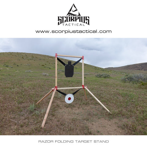 Razor Folding Target Stand (Brackets Only, no wood or hardware) - Scorpius Tactical
