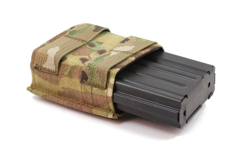 Esstac 7.62 Single KYWI Shorty - Hybrid Kydex Mag Pouch With Outside Webbing