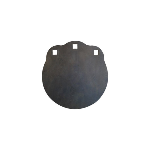 "8"" Round 3/8"" Thick, Laser Cut - Certified AR500 Steel Gong, Three Mounting Holes"
