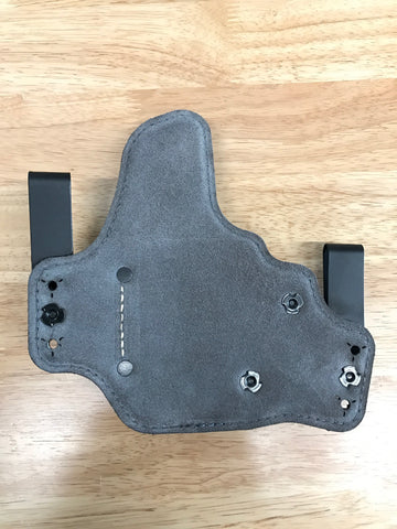 Black Arch Holsters - Sig P320c - ACE1 GEN 2 W/ Suede Backing - Metal Clips - Black