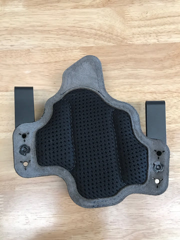 Black Arch Holsters - Glock 19/23/32 - Dual Metal Clips IWB PROTOS-M With Breathable Backer - Black/Blue