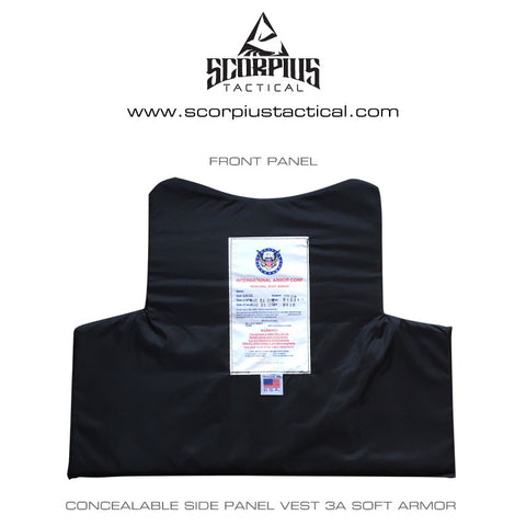 Concealable Side Panel Vest, With Included Level 3A Soft Armor