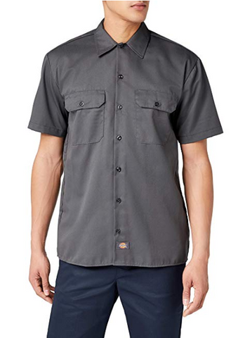 Dickies Men's Short Sleeve Work Shirt Stain & Wrinkle Resistant
