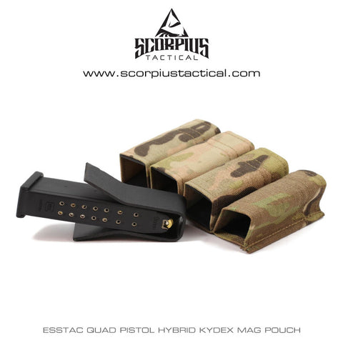 Esstac Quad Pistol Double Stack KYWI Hybrid Kydex Mag Pouch