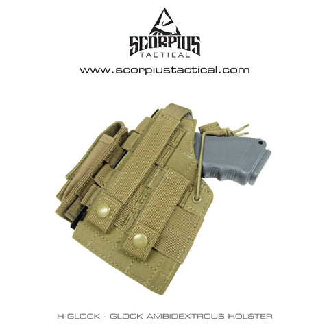 H-Glock - Glock Ambidextrous Molle Holster With Mag Pouch