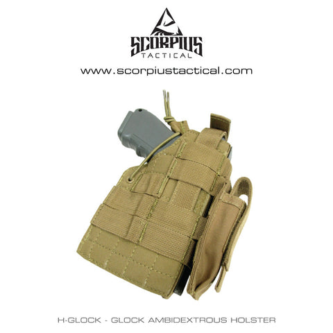 Condor H-Glock - Glock Ambidextrous Molle Holster With Mag Pouch