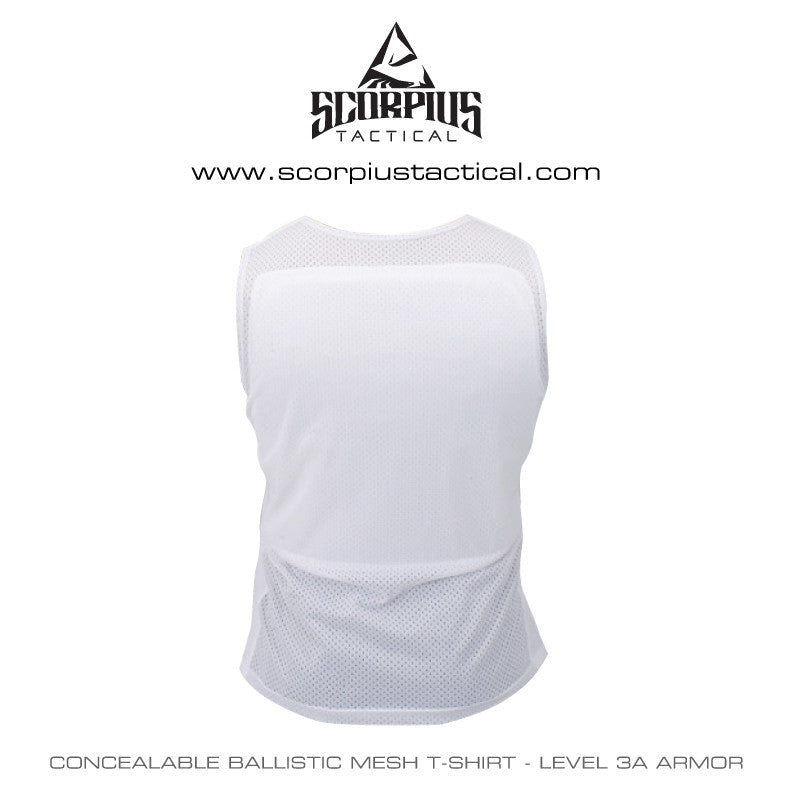 Concealable Ballistic Mesh Bulletproof T-Shirt - Level 3a ...