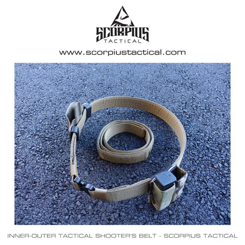 Inner-Outer Tactical Shooter's Belt - Scorpius Tactical