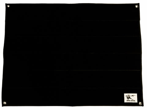 Large 2'x 2.5' Soft Velcro Patch Panel - Black