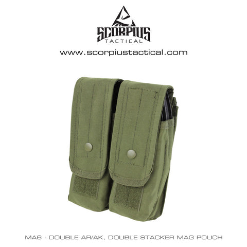 MA6 - Double AR/AK, Double Stacker Mag Pouch - Condor