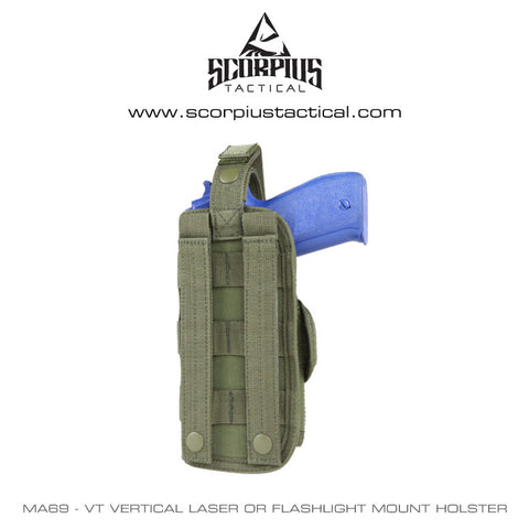MA69 - VT Vertical laser or flashlight mount Holster - Condor