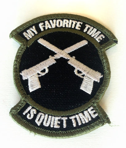 "My Favorite Time Is Quiet Time, Velcro Moral Patch - 2""x 3.5"""