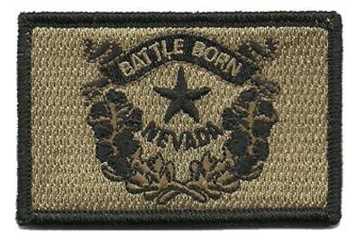 "Nevada State Tactical Patch - Battle Born 2""x 3"""