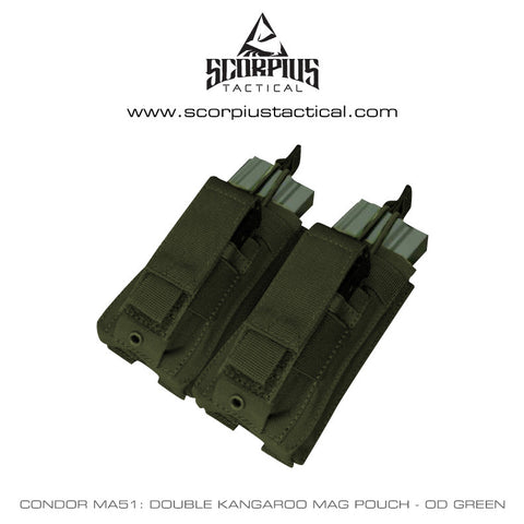 MA51 - M4/AR15 Double Kangaroo Mag Pouch With Molle Attachments - Condor