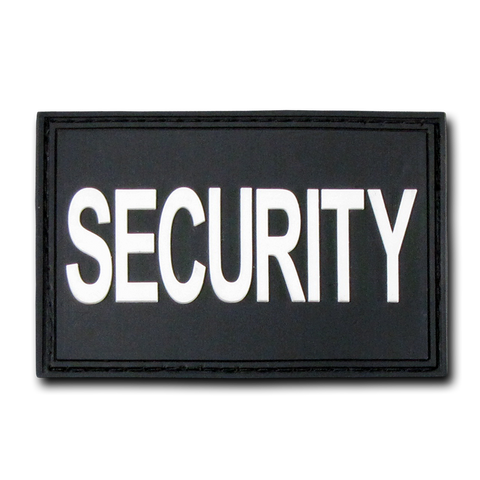 "Security PVC Patch - Black 2""x 3"""