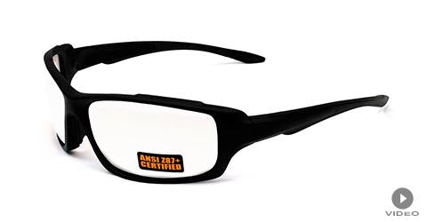 SS2 Black Safety Glasses - Maxx Glasses