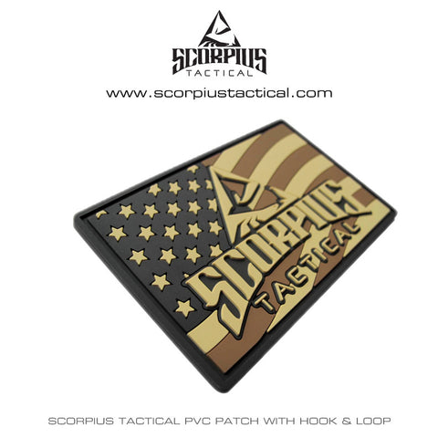 "Scorpius Tactical PVC Flag Patch 2""x3"" Morale Patch"