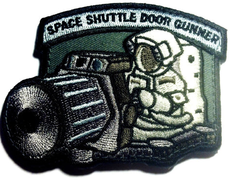"Space Shuttle Door Gunner, Velcro Patch -  3.5"" x 2.77"""