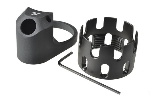 Strike Industries - AR Enhanced Castle Nut & Extended End Plate