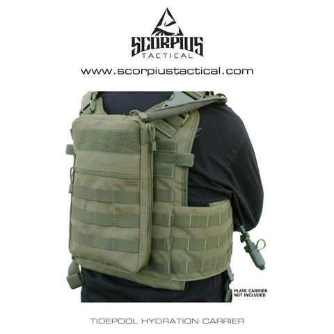 111030 - Tidepool Molle Hydration Carrier - Use With Plate Carriers - Condor