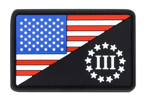 US Flag/3 Percenter Patch