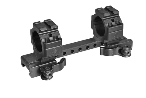 "AR15 UTG Integral 1"" Med-pro QD Ring Mount, 2 Top Slots, 130mm Base"