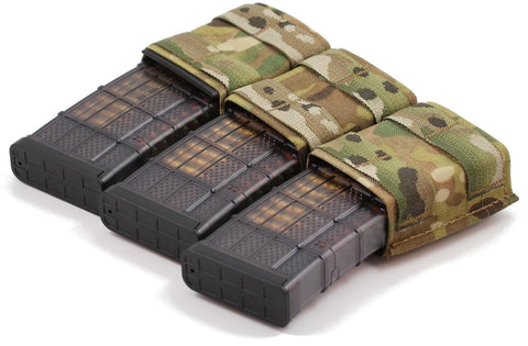 Esstac 5.56 Triple KYWI Shorty - Hybrid Kydex Mag Pouch With Outside Molle