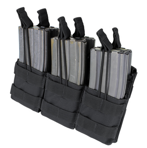 MA44 - Triple Stacker Open-Top M4/AR15 Mag Pouch - Condor