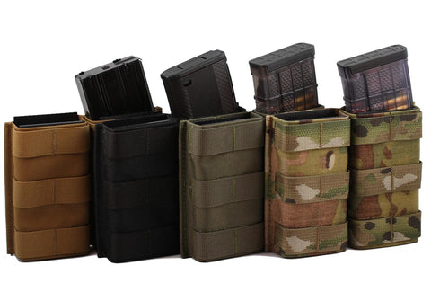 Esstac 5.56 Double KYWI Tall - Hybrid Kydex Mag Pouch With Outside Molle
