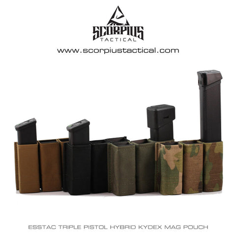 Esstac Triple Pistol Double Stack KYWI Hybrid Kydex Mag Pouch