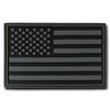 "Flag PVC Patch - Black Grey 2""x 3"""