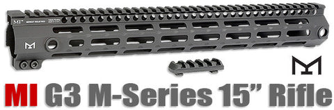 MI - AR-15 G3 M-Series Free Float Handguard Seven Sided M-LOK - Midwest Industries