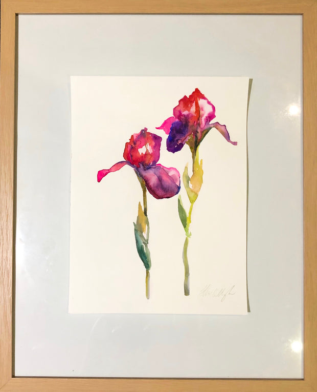 Summer Irises original watercolour