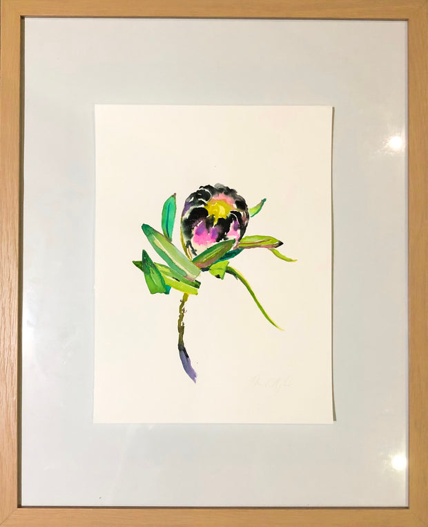 Flowers from my son original watercolour