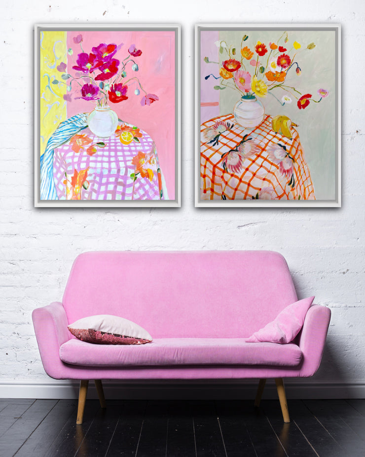 Wholesale - 'Poppies on a painting' Large Limited Edition Print