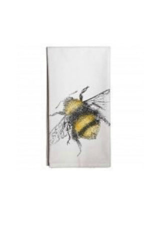 Fuzzy Bee Flour Sack Cotton Towel