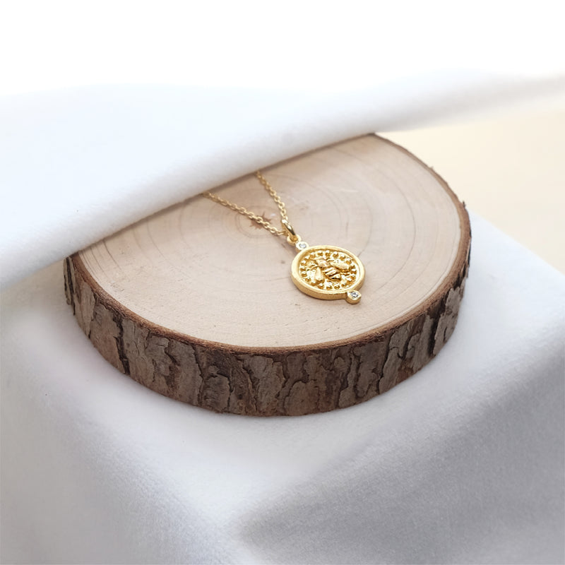 Bee Medallion Pendant