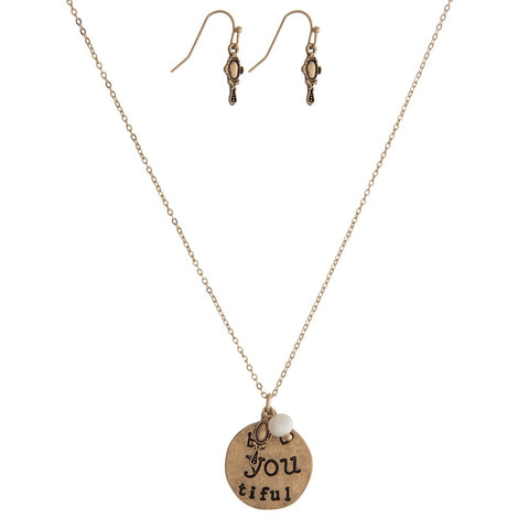 Be You Tiful necklace and earrings