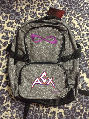 Nfinity backpack silver sparkle