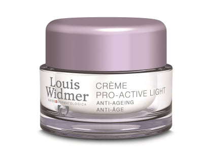 LOUIS WIDMER PRO-ACTIVE CREAM LIGHT YÖVOIDE NORMAALILLE JA SEKAIHOLLE, HAJUSTEETON 50 ML
