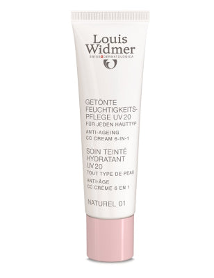 LOUIS WIDMER TINTED MOIST UV20 NATUREL 01 CC-VOIDE KAIKILLE IHOTYYPEILLE, HAJUSTEETON 30 ML
