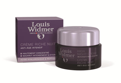 LOUIS WIDMER RICH NIGHT CREAM ANTI-AGE-YÖVOIDE, HAJUSTEETON 50 ML